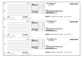 3up deposit sheets