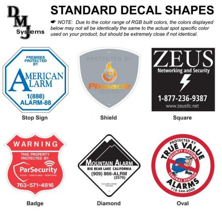 Decal shapes