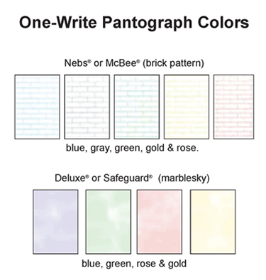 One-Write Pantograph colors